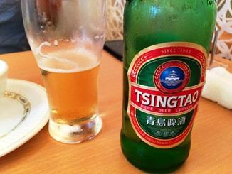 天香回味の青島ビール.JPG